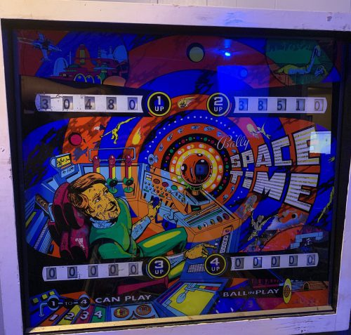 1972 Bally Space Time Back Glass
