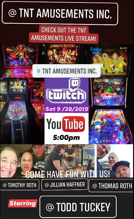 September 28 Stream at TNT